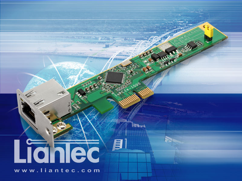 Liantec 1uPCIe-1000 Ultra Low Profile 1U SIlm PCIe Intel Gigabit Ethernet NIC Card