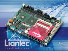 Liantec EMB-5740 EmBoard with TBM-1200 Tiny-Bus Mini-PCI Module