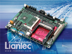 Liantec EMB-5740 EmBoard with TBM-1210 Tiny-Bus PCMCIA Module