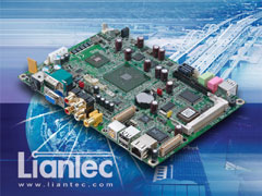"Liantec EMB-5730 : 5.25"" VIA C7-Eden Multimedia EmBoard with Tiny-Bus Modular Expansion Solution"