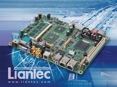 "Liantec EMB-5950 : 5.25"" Intel Atom 945GSE Express Multimedia EmBoard with Tiny-Bus Modular Extension Solution"