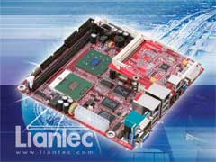Liantec ITX-6800 Mini-ITX Intel Pentium M EmBoard with Tiny-Bus Modular Extension Solution