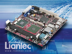 Liantec ITX-6945 Mini-ITX Intel 945GME Core 2 Duo Mobile EmBoard with Tiny-Bus Modular Extension Solution