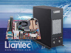 Liantec LPC-M2B series Industrial Wallmount Mini-ITX Barebone Solution with Tiny-Bus x16 PCIe Graphics Extension Solution