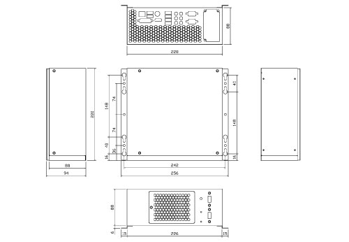 Liantec LPC-M2B Mechanical Drawing