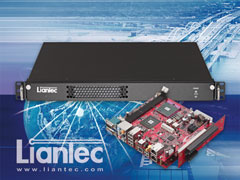 Liantec LPC-R1X-GM45 series Industrial 1U Mini-ITX Intel GM45 DDR3 Barebone Solution with Tiny-Bus Modular 1U 2-Slot PCIe/PCI Extension Solution