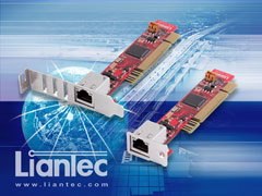 Liantec 1uPCI-1000 Industrial Ultra Low Profile Slim 1U PCI Intel Gbit Ethernet Card with 1U and 2U Bracket