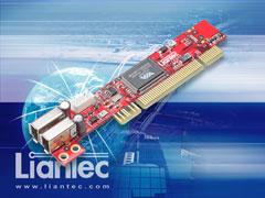 Liantec LTC-1P200 Indsutrial Ultra Low Profile 1U Slim PCI IEEE1394a FireWire Card