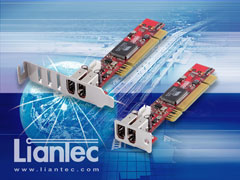 Liantec LTC-1P200 Bracket | Industrial Ultra Low Profile 1U Slim PCI IEEE 1394a FireWire Host Card with 1U and 2U Bracket