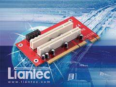 Liantec P2PCI-280 2U 3-Slot PCIe/PCI Riser Card