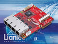 TBM-1445 Tiny-Bus PCIe Quad Intel Gbit Ethernet and MiniCard Module