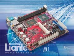 Liantec TBM-1450 Tiny-Bus PCIe IEE1394b FireWire 800 Host Module on Mini-ITX Small Form Factor EmBoard