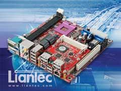力安科技 (Liantec) Tiny-Bus® 嵌入式微型總線 eSATA / SATA-II 資料存取解決方案應用於 Mini-ITX 工業電腦平台