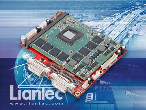 Liantec TBM-1630 Photo : Tiny-Bus x16 PCIe MXM 3 0 Type-A/B Graphics