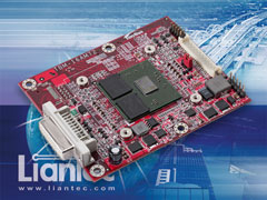 Liantec TBM-16AM72 : Tiny-Bus x16 PCIe AMD-ATi M72 Radeon E2400 Grapgics Module