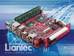 Liantec TBM-X2000 Tiny-Bus 1U Low Profile 2-Slot PCIe/PCI Extension Module on Mini-ITX Small Form Factor EmBoard